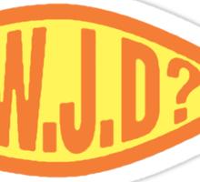 """Christian """"WWJD?"""" Sticker"""