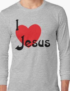 "Christian ""I Love Jesus"" Long Sleeve T-Shirt"