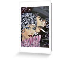 ART DECO COUPLE Greeting Card