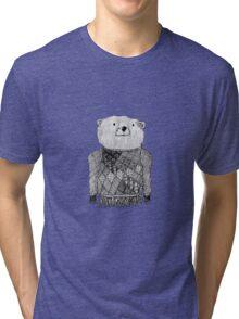 Bear Illustration  Tri-blend T-Shirt