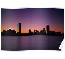 Purple Boston Sunrise Poster