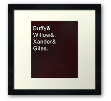 Buffy and Friends Framed Print