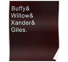 Buffy and Friends Poster