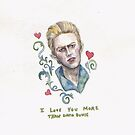 David Bowie Valentine  by brettisagirl