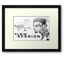 Flow Session Flyer #5 Framed Print
