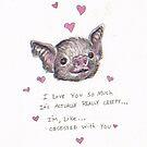 Vampire Bat Valentine  by brettisagirl