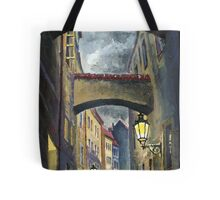 Prague Old Street Love Story Tote Bag