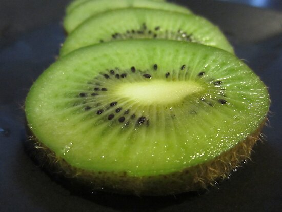A Slice of Kiwi Fruit by v-something