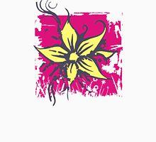 Flower Urban Grunge Womens Fitted T-Shirt