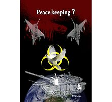 Peace keeping shirt Photographic Print
