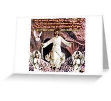 † ❤ † FAITH (BIBLICAL) BANNER † ❤ † Greeting Card