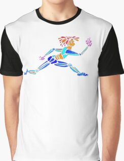 Dance Warrior Le leap Polychromatic Overlay Transparency Graphic T-Shirt
