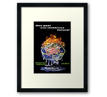 Global warming shirt from D.W.Arts Framed Print