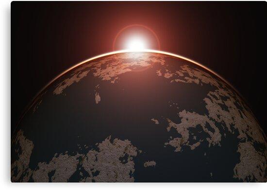 Rising Dawn of an Alien Planet by EthanMcFenton