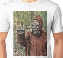 Sasquatch measuring wind Speed and Direction Unisex T-Shirt