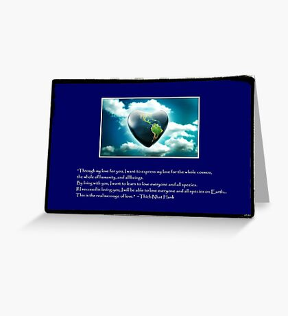 Love Everyone & All Species on Earth Greeting Card