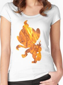 Chimchar used Flame Wheel Women's Fitted Scoop T-Shirt