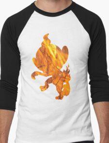Chimchar used Flame Wheel Men's Baseball ¾ T-Shirt