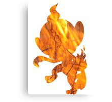 Chimchar used Flame Wheel Canvas Print