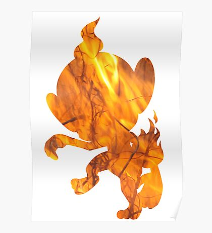 Chimchar used Flame Wheel Poster