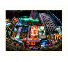 Fisheye on Broadway Art Print
