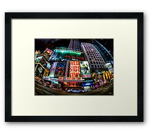 Fisheye on Broadway Framed Print