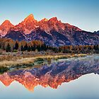 Brilliant Cathedral - Grand Teton National Park by Mark Kiver