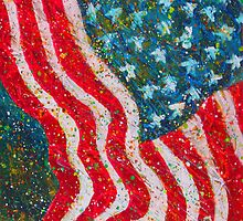 """""""Glory"""" Contemporary, Patriotic Art Painting by Wendy Middlemass"""