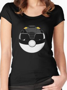 BLACK RANGER POKEBALL Women's Fitted Scoop T-Shirt