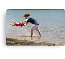 Fun with Dad Canvas Print