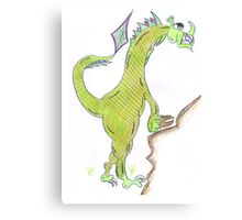 Dragon climbing Canvas Print
