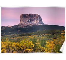 Chief Mountain Sunrise - Glacier National Park Poster