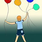 Boy With Balloons by Leni Kae
