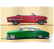 1954 Custom Chevrolet Bel Air w/o ID Poster