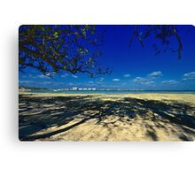 View of Paradise Island from Montagu Beach in Nassau, The Bahamas Canvas Print