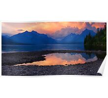 Lake McDonald Sunset - Glacier National Park Poster