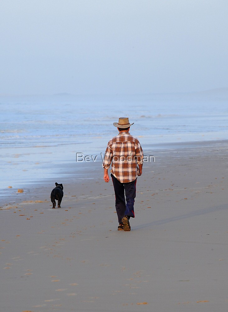 Faithful Walk - Birubi Beach NSW Australia by Bev Woodman