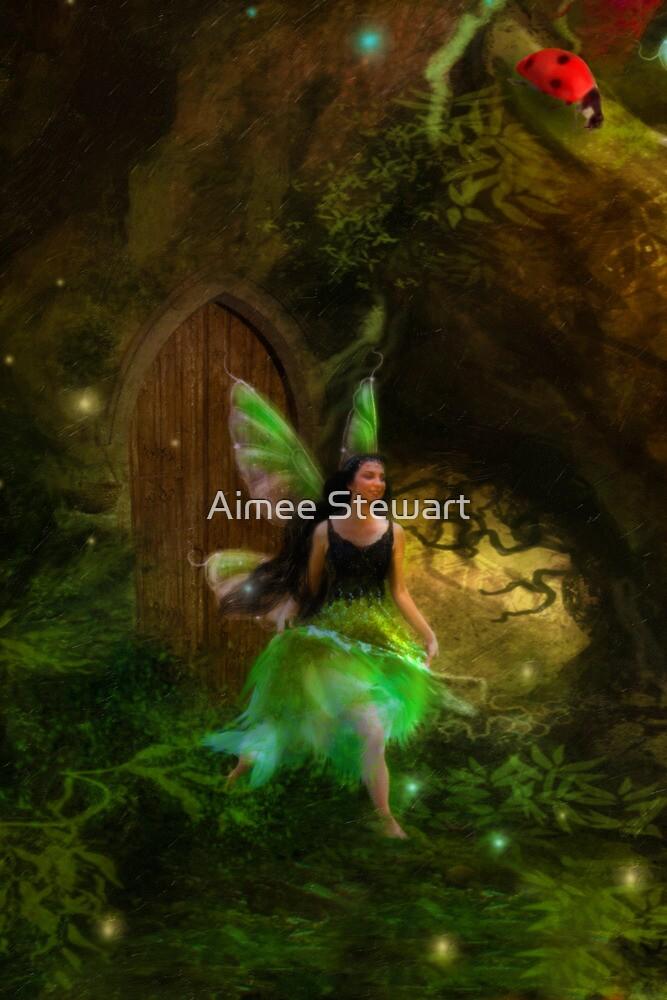Dancing Auroras - Green Fairy II by Aimee Stewart