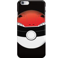 RED RANGER POKEBALL  iPhone Case/Skin