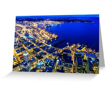 Twilight Above Downtown Seattle Greeting Card
