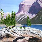 Lake Minnewanka by Michael Beckett