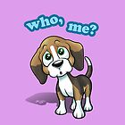 Beagle - Who, Me? - pink by Craig Bruyn