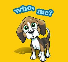 Beagle - Who, Me? - yellow by Craig Bruyn