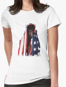 Amerikkkan Steez Womens Fitted T-Shirt