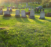Quiet Eve - Evergreen Cemetery - Portland, ME by Connie Thomase