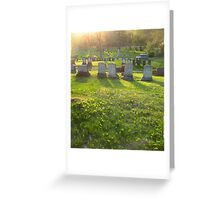 Quiet Eve - Evergreen Cemetery - Portland, ME Greeting Card