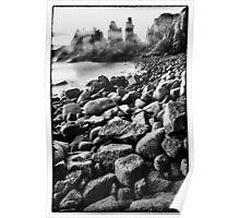 The Pinnacles, Phillip Island - monochrome Poster