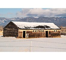 Weathered Barn Photographic Print
