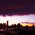 PURPLE SKIES SHOWCASE THE BROOKLYN BRIDGE MASTERPIECE by KENDALL EUTEMEY