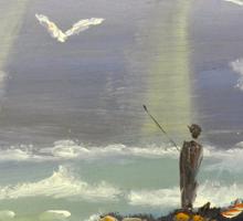 Rock Fishing at Wombarra Sticker